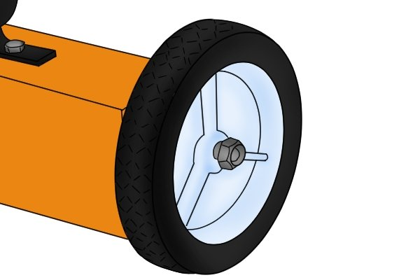 Standard blue push magnetic sweeper wheel