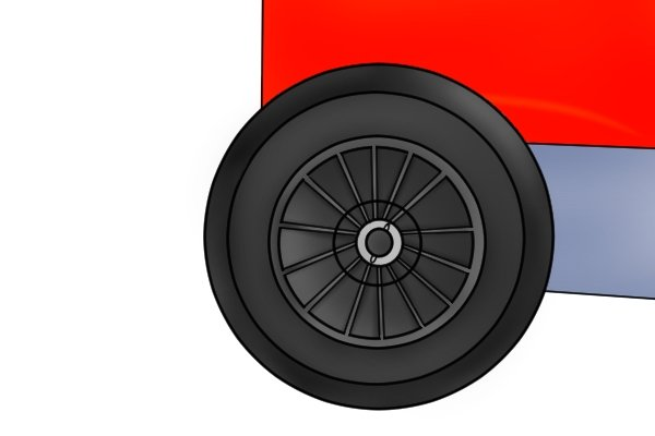 black rubber wheel for a trailer magnetic sweeper
