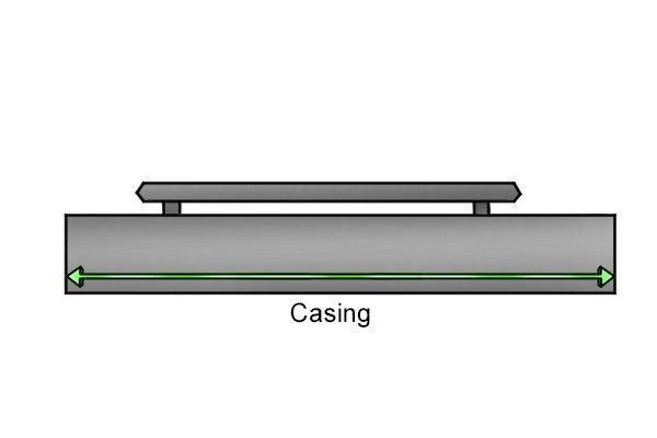 Handheld magnetic sweeper casing