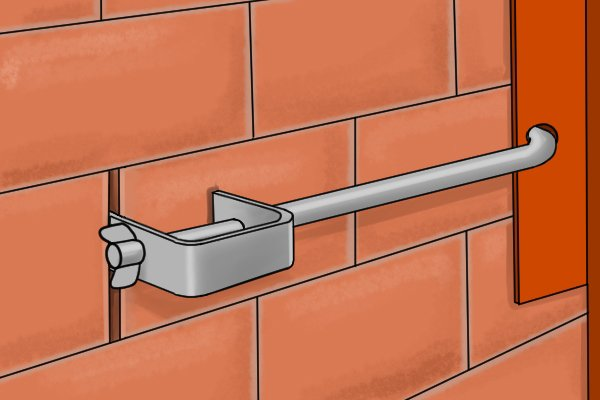 Bolt and clamp in mortar