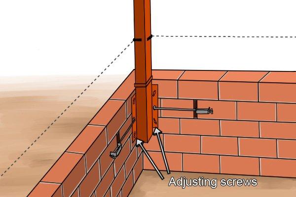 adjust bottom setting screws