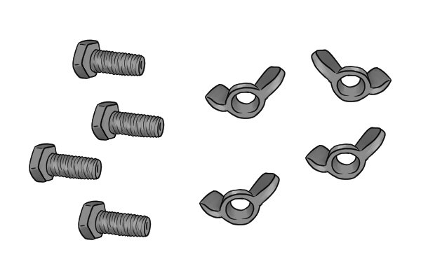 Wing nuts and bolts