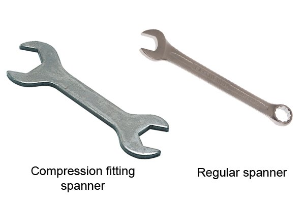 Regular spanner and compression fitting spanner
