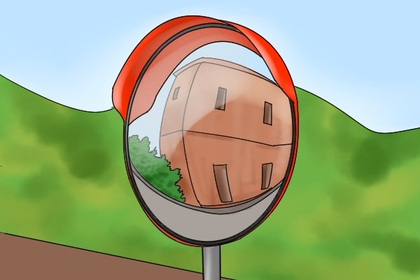 mirror reflection different clipart. a convex mirror provides wider field of view due to it reflecting light around, rather than straight back at the user. image however, can be distorted reflection different clipart f