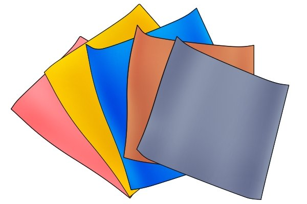 PVC (polyvinyl chloride) sheets, available in a variety of colours.
