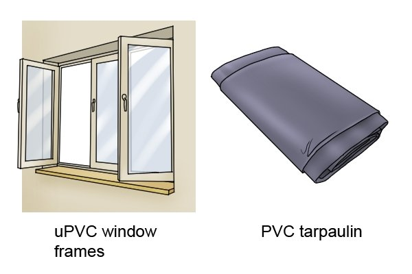 flexible pvc used for a tarpaulin sheet and upvc window frames