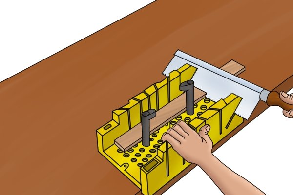 Wonkee Donkee 45° Side on saw guide slots are available on some mitre boxes