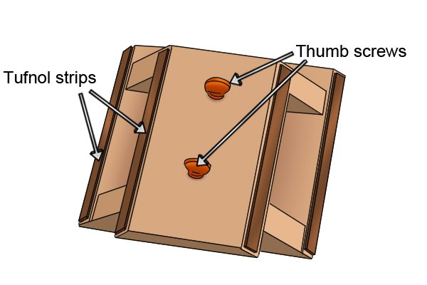 Wonkee Donkee Skirting board mitre box is specifically designed for cutting skirting boards at 45°