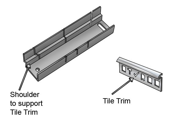 Wonkee Donkee Tilers Trim Mitre Box for cutting accurate tile trims