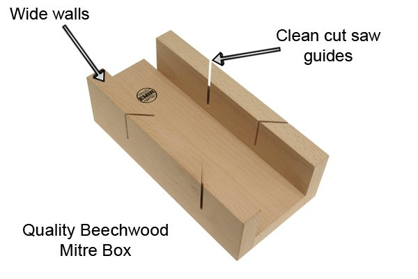 Wonkee Donkee Cheaper wooden mitre boxes have thinner side walls and the saw guides are not as precise