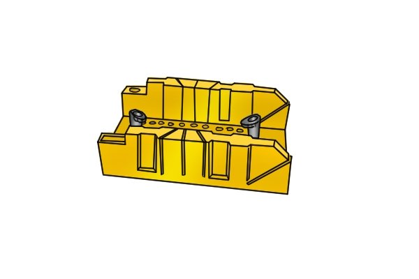 Wonkee Donkee ABS Plastic mitre box suitable for 22.5°, 45° and 90° mitre joints