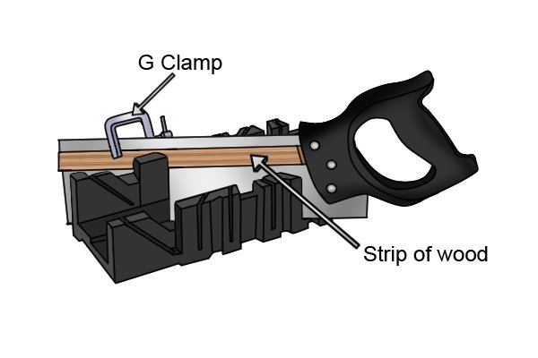 Wonkee Donkee How to make a saw depth gauge for use with your mitre box