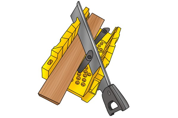 Wonkee Donkee Mitre box and saw for producing 45 and 90° angles on skirtings and coving