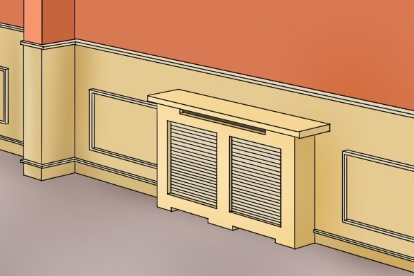 Wonkee Donkee Dado panelling and rails cut precisely using a mitre box