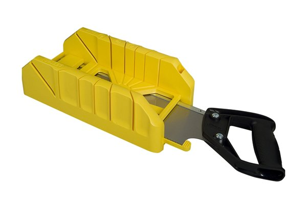 Wonkee Donkee Mitre box with a saw storage facility ensures you always have your saw with you when you need to use the mitre box