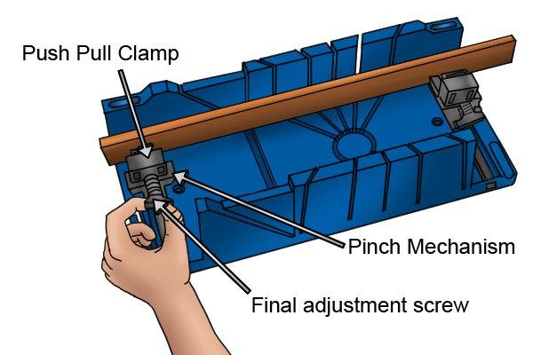 Wonkee Donkee screw clamp on a Draper mitre box