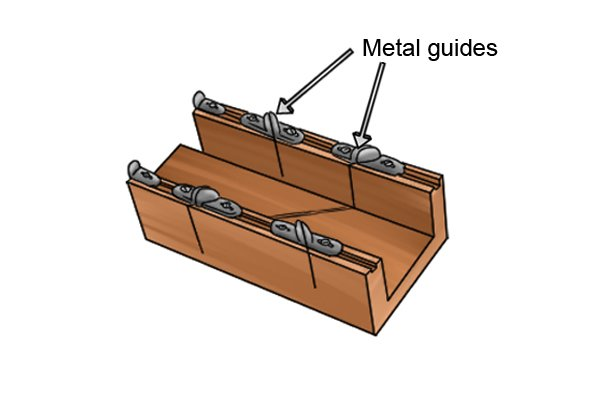 Wonkee Donkee Wooden mitre with metal guides used in cutting 22.5°, 45° and 90° angles