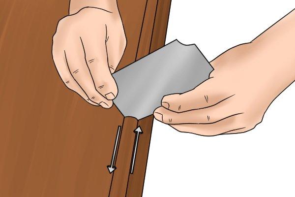 Cabinet scrapers, quadrant scraper, scraping, convex profile, woodwork, DIYer, carpenter.