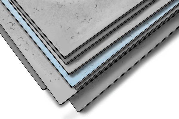 Cabinet scraper, card scraper, hollow cabinet scraper, scraping, woodwork, carpenter, DIYer, polished, high carbon steel.