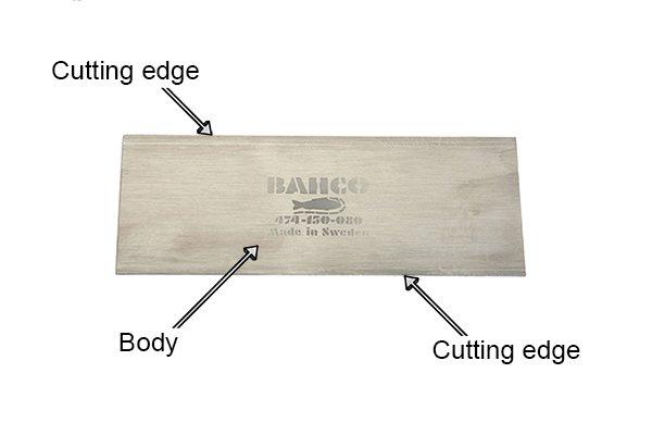 Flat cabinet scrapers, card scrapers, woodwork, parts, blade, body, steel, high carbon steel, scraping, DIYer, carpenter.
