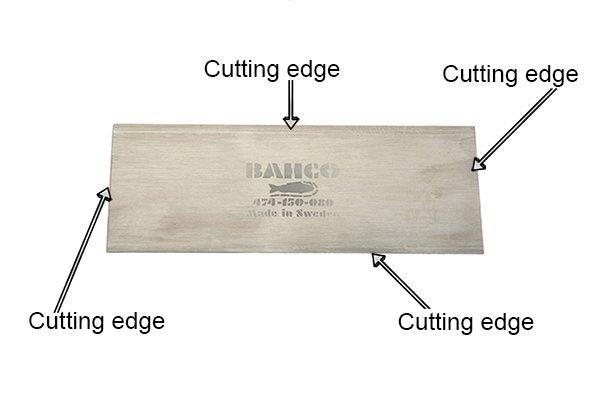 Flat cabinet scrapers, card scraper, woodwork, parts, blade, body, steel, high carbon steel, scraping, DIYer, carpenter.
