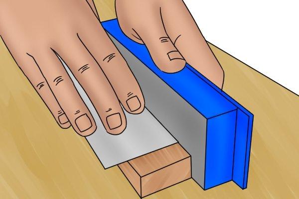 Flat cabinet scraper, card scraper, tools needed, oil, cloth, vice, burnisher, mill file, DIYer, carpenter, woodwork.
