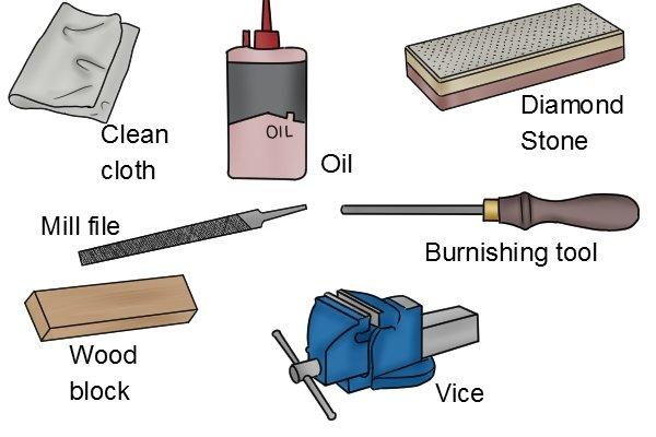 How to sharpen a flat cabinet scraper?