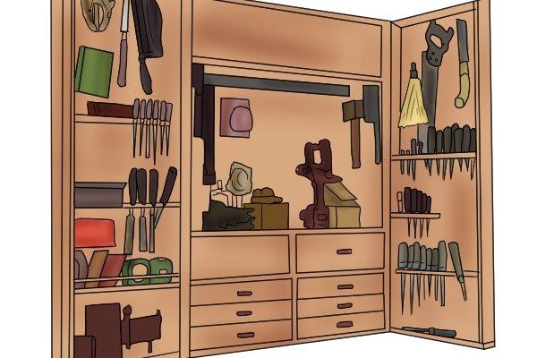 Storage, safe, avoid damage, cabinet scraper, garage, tools, shed, maintenance, scraping, woodwork, carpenter, DIYers.