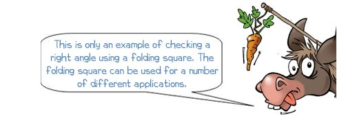 How to check right angles with a folding square