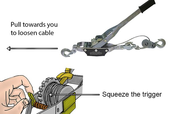 How to use a cable puller