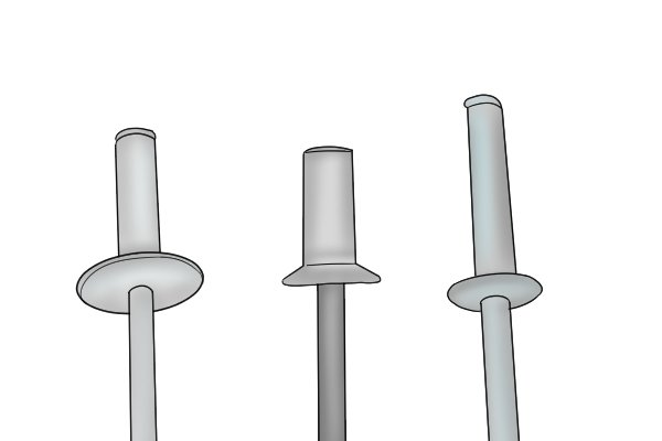 What are the different types of blind rivet?