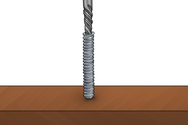 The spiral fluted extractor is drilled into the hole which will grab the head of the screw and then pull out the screw or bolt.