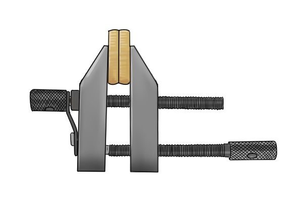 This clamp is also known as a parallel clamp because the jaws are parallel to each other. It is also known as a machinist clamp because it is used when drilling, milling, tapping and other machining operations.