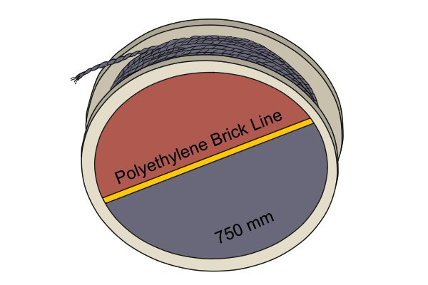 Brick lines, brickys line, builder's string, mason's line, marking out tool, reference line, bricklaying, brick pins, brick blocks, line blocks wonkee donkee tools DIY guide how to use a brick line