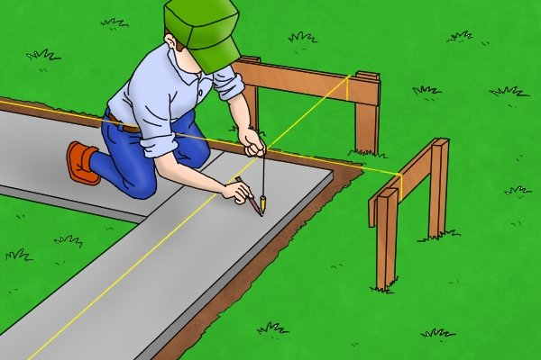 Brick line, mason's line, brick twine, bricklayer's tools, marking out tools, string line, fluorescent, level, plumb, wall, bricklaying, wonkee donkee tools DIY guide, how to use a brick line