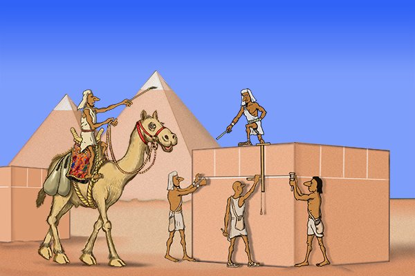 Ancient Egyptian stone workers, chalk line, plumb bob wonkee donkee tools DIY guide how to use a chalk line