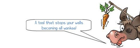 A tool that stops your wall becoming wonkee! Line block, brick line, masonry tools, line pins, builder's line, bricklayer's twine, wonkee donkee tools DIY guide, how to use line blocks
