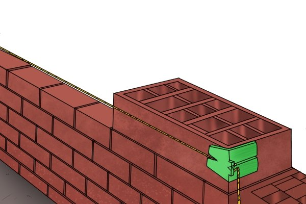 Line blocks, masons blocks, builders blocks, bricklayers blocks, bricklaying tools, brick line, wonkee donkee tools DIY guide, how to use a line block