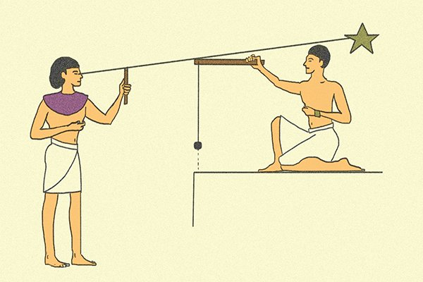 Ancient Egyptian plumb bob wonkee donkee tools DIY guide how to use a plumb bob