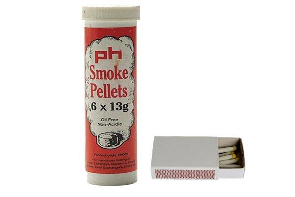 smoke testers, smoke pellets, smoke matches, smoke testing