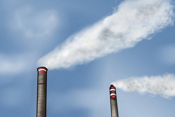 Tall chimney, smoke, smoke testers, chimney