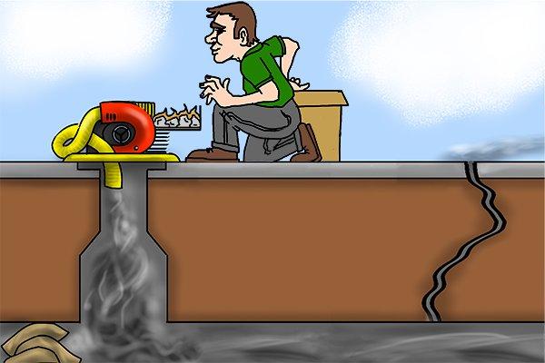 smoke testers, smoke pellets, smoke test, plumbing