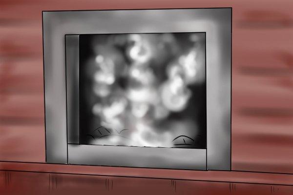 smoke testing, chimney half drawing
