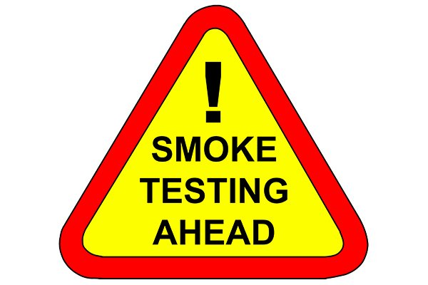 smoke test sign