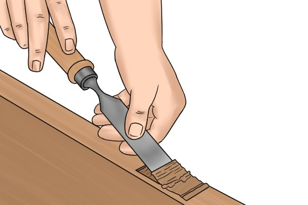 wood chisels, chisel, carpenters tool, hand tool, chipping, chopping, carving, scraping, chiselling, wonkee donkee tools DIY guide, how to use a chisel