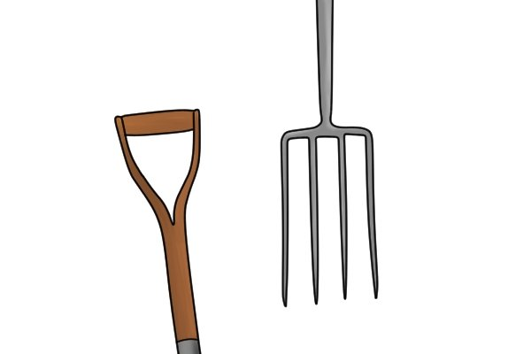 A fork is made up of two main parts - the head and the shaft