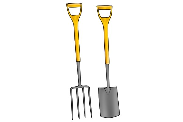 Both used for digging but with obvious differences
