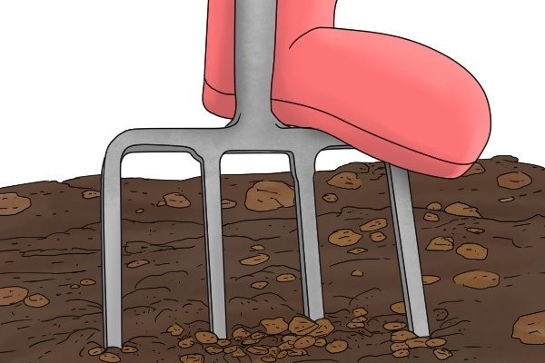 The tines allow the fork to be pushed more easily into the ground.
