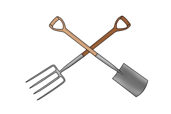 When would you use a fork over a spade?