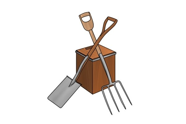 A spade and fork gift set to help persuade any soil to produce a garden!